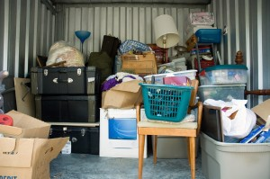 Before Photo of Cluttered Garage